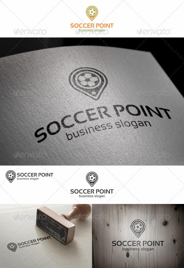 GraphicRiver Soccer Point Locator Logo 7739969