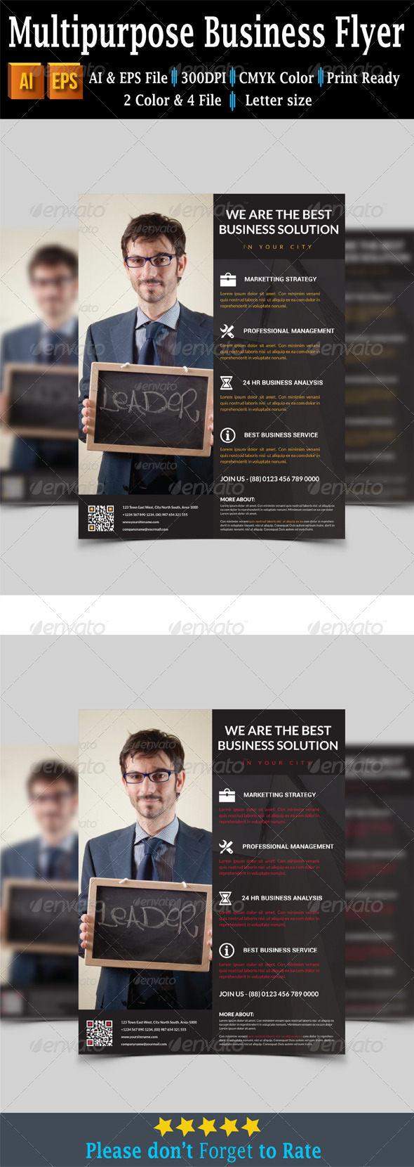 GraphicRiver Multipurpose Business Flyer 7739986