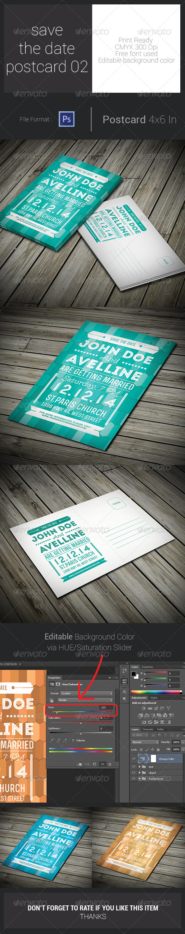 GraphicRiver Save The Date Postcard 02 7739988