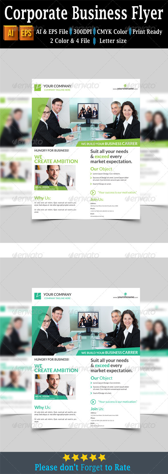GraphicRiver Corporate Business Flyer 7740037