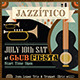 Latin Jazz Retro Flyer & Facebook Cover - GraphicRiver Item for Sale