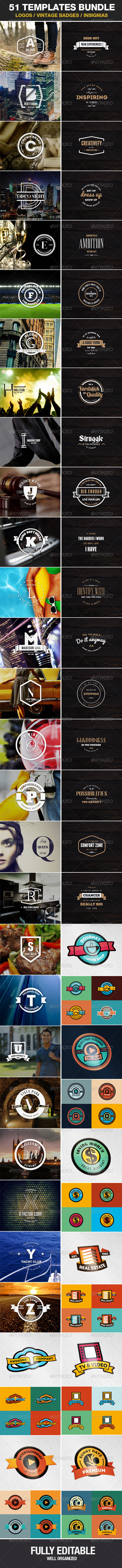 GraphicRiver 51 Templates Logos Vintage Badges Insignias 7740570