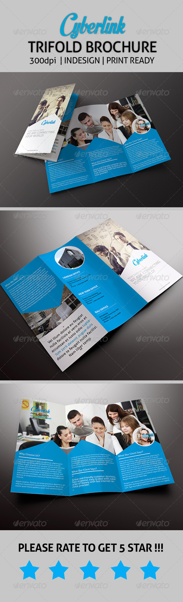 GraphicRiver Cyberlink Trifold Brochure 7740572