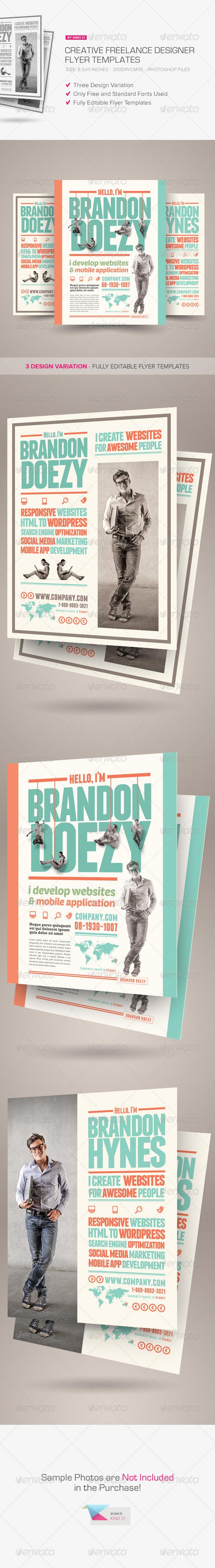 GraphicRiver Creative Freelance Designer Flyers 7740654