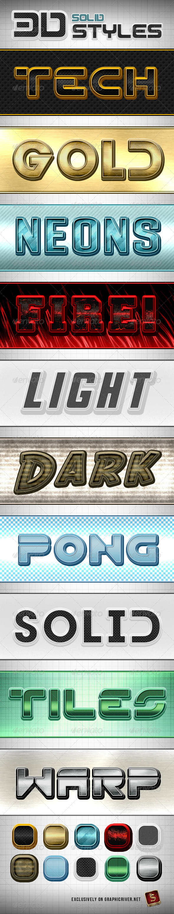 GraphicRiver Solid Photoshop Styles 790964