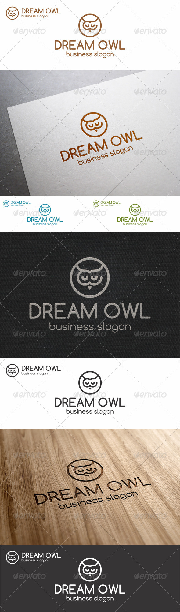 GraphicRiver Dream Owl Logo Template 7740849