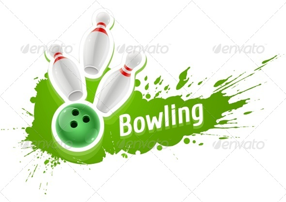 GraphicRiver Skittles and Ball For Playing the Bowling Game 7740850