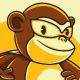 Vector stock of a cute monkey wear a superhero costum