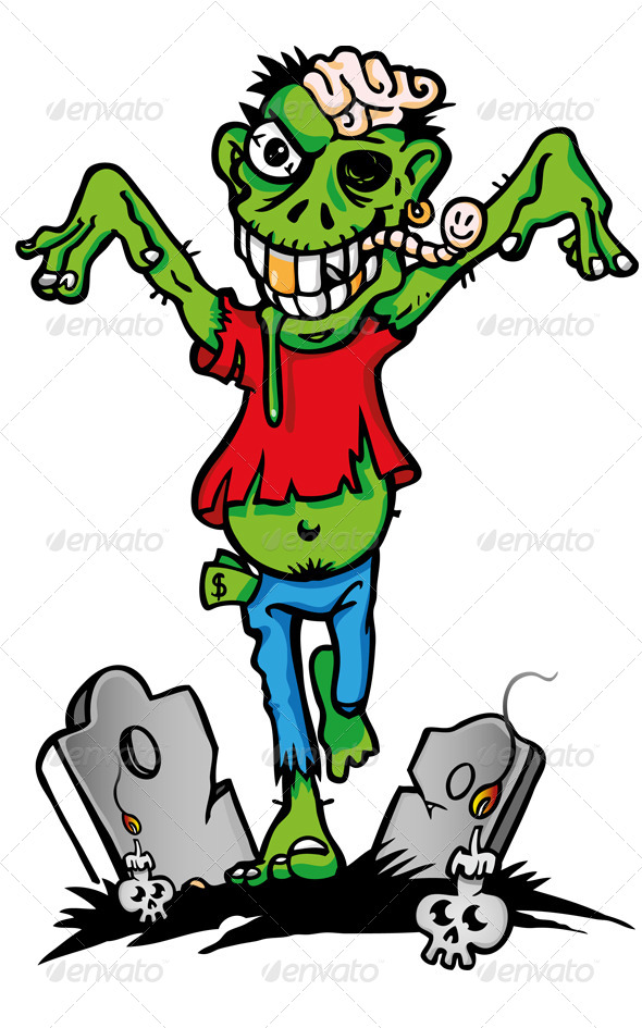 GraphicRiver Zombie Cartoon 7741053