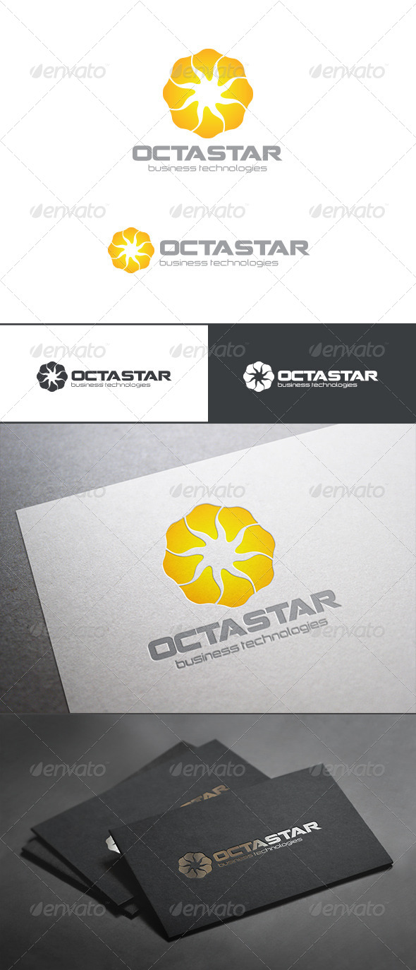 Sun Star Loop Infinity Logo Abstract