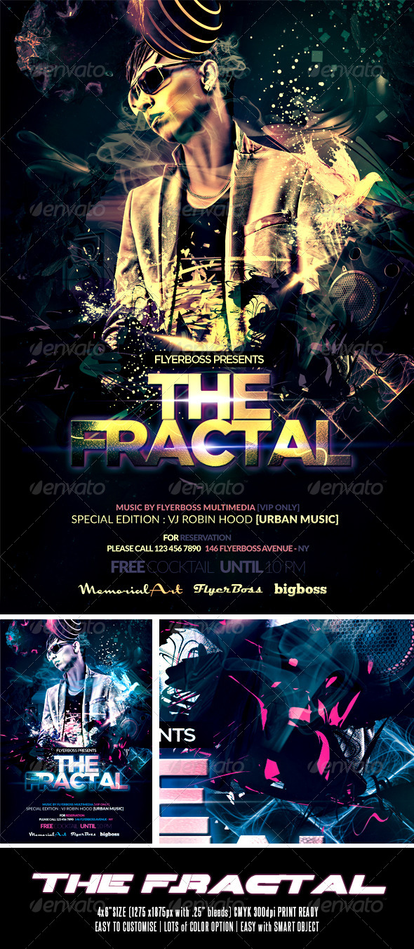 GraphicRiver The Fractal Flyer 7741240