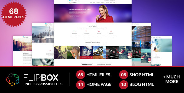 ThemeForest FlipBox Multipages HTML5 CSS3 Template 7741316