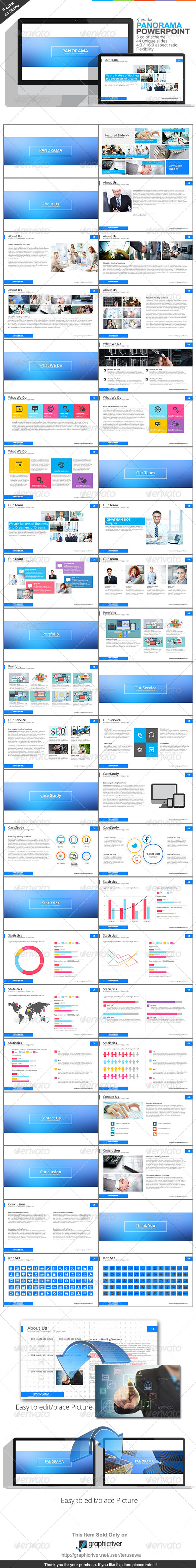 GraphicRiver Gstudio Panorama Powerpoint Template 7741350