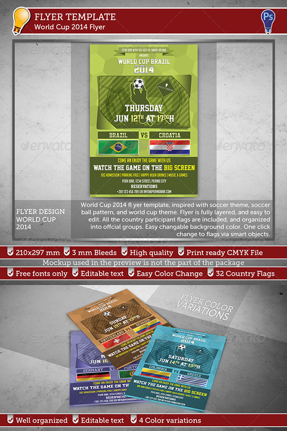 World Cup 2014 Flyer - Sports Events