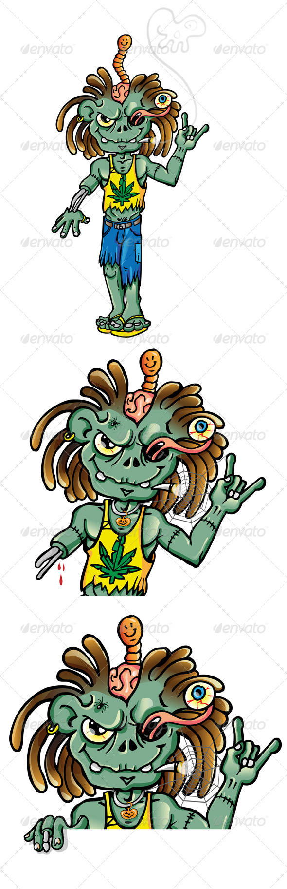GraphicRiver Jamaican Zombie 7741526