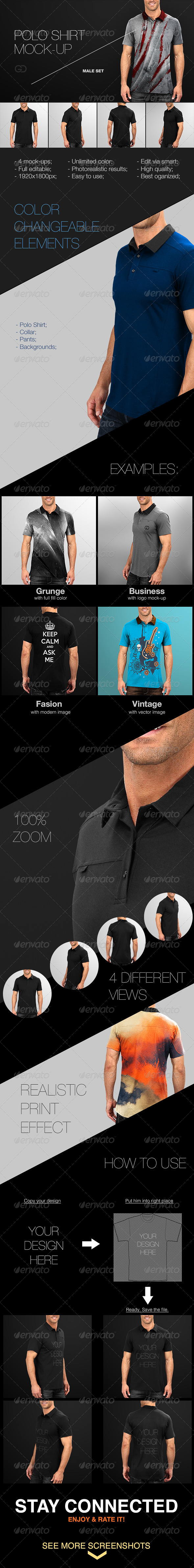GraphicRiver Mens Polo Shirt Mock-Up 7734860