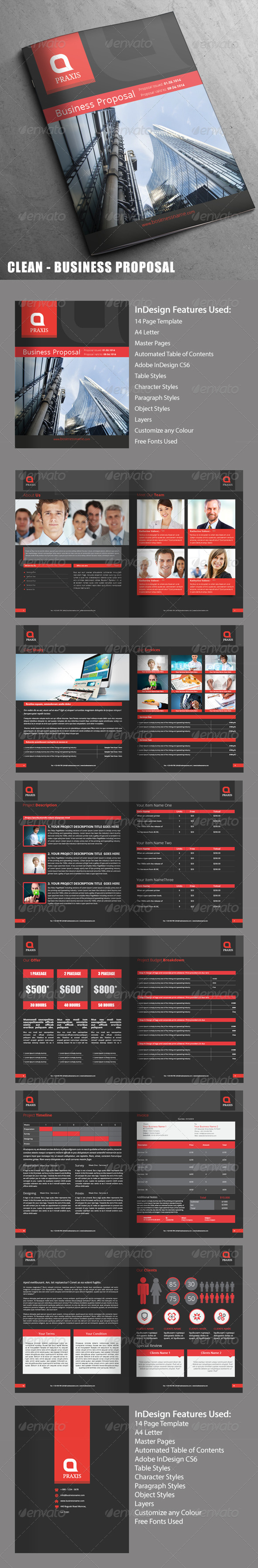 GraphicRiver Clean Business Proposal 14 Pages 7741563