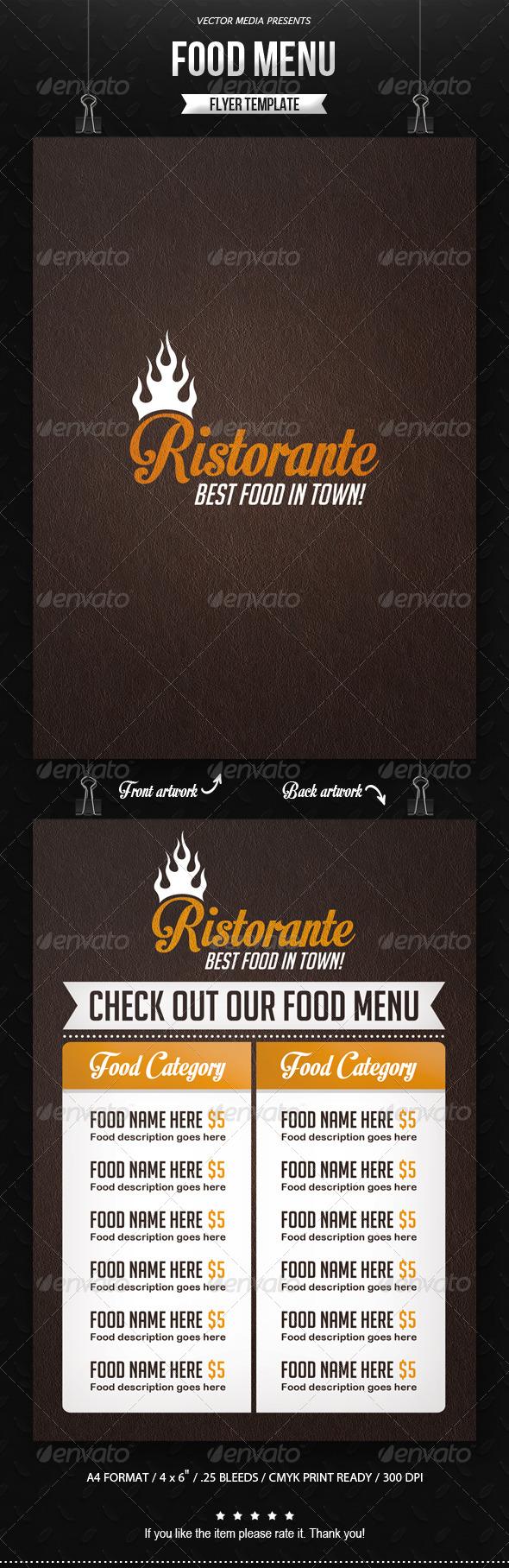 GraphicRiver Food Menu Flyer 7741653