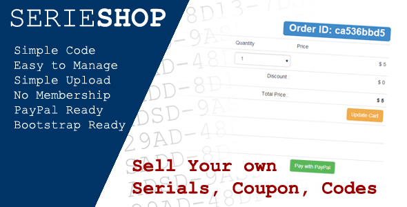 CodeCanyon SerieShop Simple Serials Coupon Vouchers Store 7712688