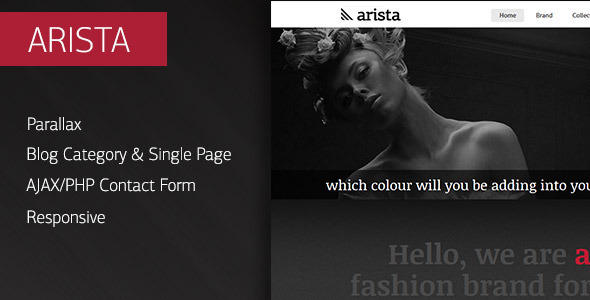 Arista - Parallax Responsive HTML Template - Fashion Retail