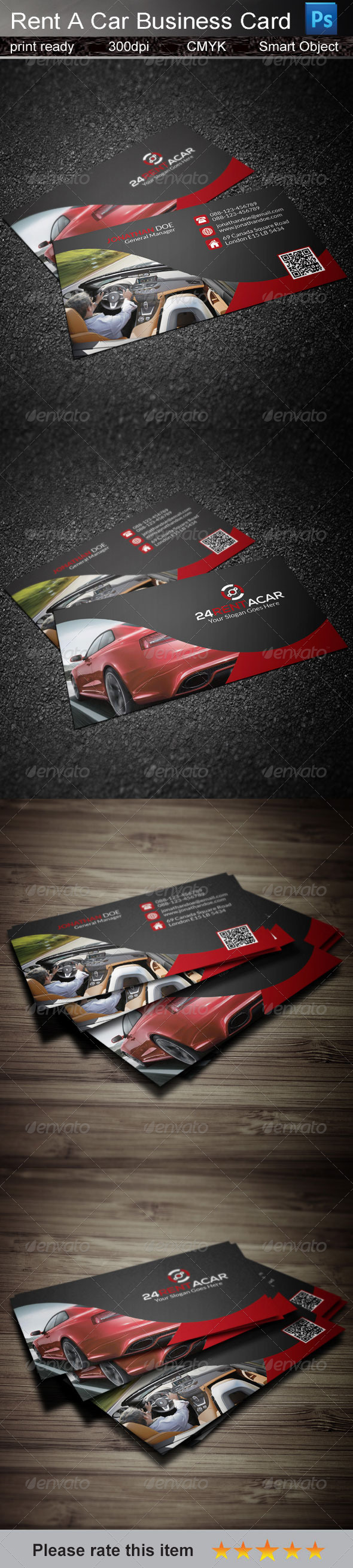 GraphicRiver Rent A Car Business Card 7742062