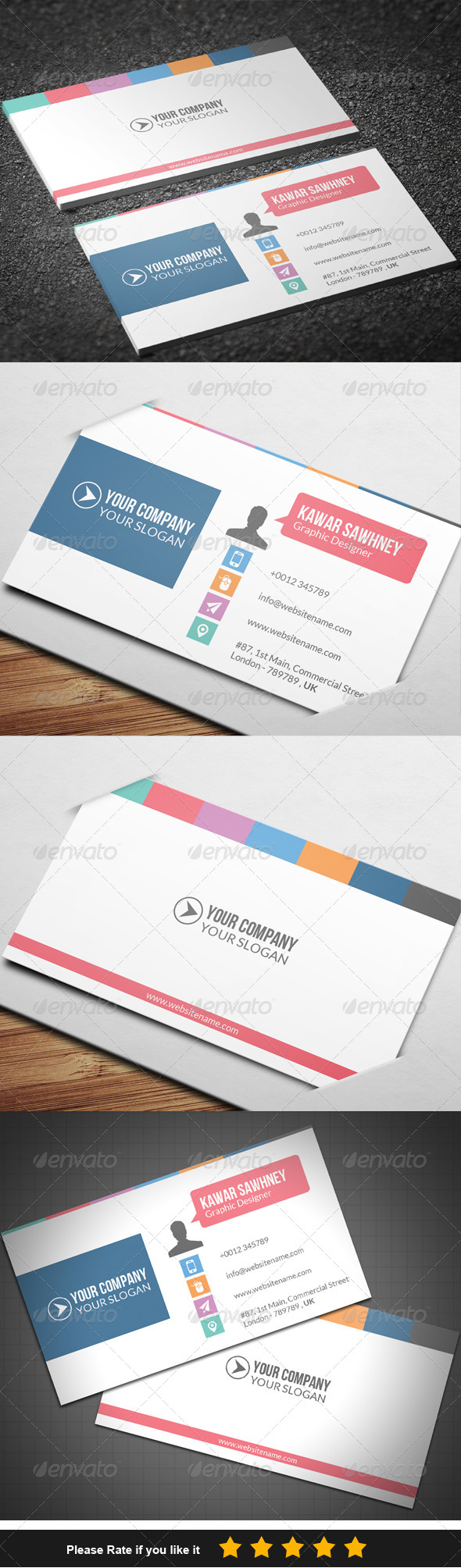 GraphicRiver Corporate Business Card 6 7742081
