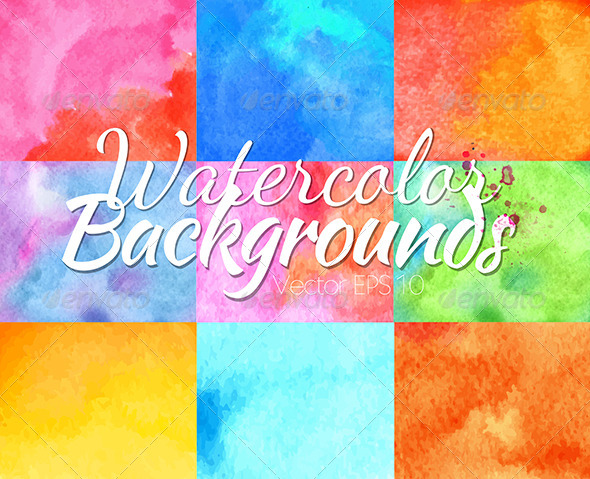 GraphicRiver Watercolor Backgrounds 7742155