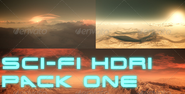 3DOcean Sci-Fi Planet HDRI 360 Degree Environment Set 7742172