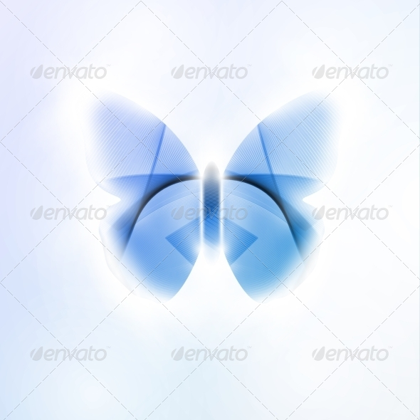 GraphicRiver Abstract Butterfly Futuristic 7742848