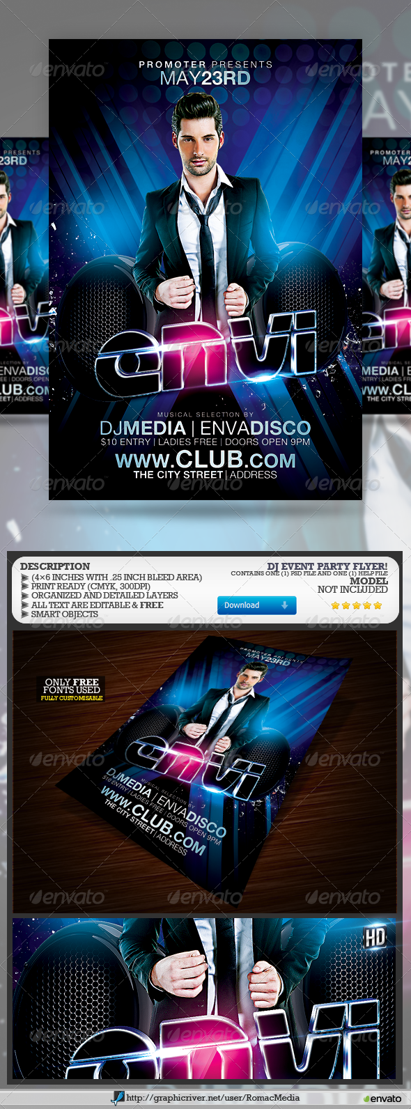 Club Sessions l DJ Event Flyer