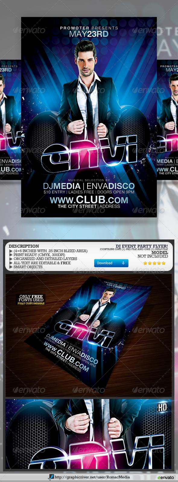 Club Sessions l DJ Event Flyer