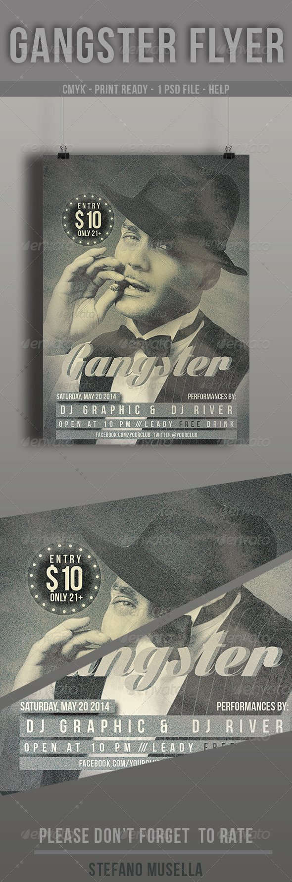 GraphicRiver Gangster Flyer 7743083