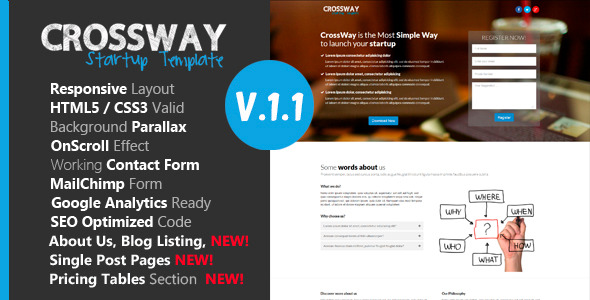 Crossway - Startup Landing Page Template