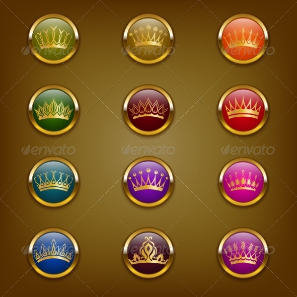 GraphicRiver Victorian Crowns 7743332
