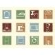 Colored Retro Icons - GraphicRiver Item for Sale