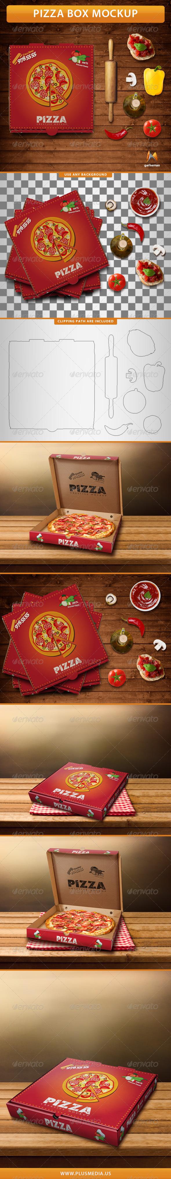 GraphicRiver Pizza Box Mockup 7733962