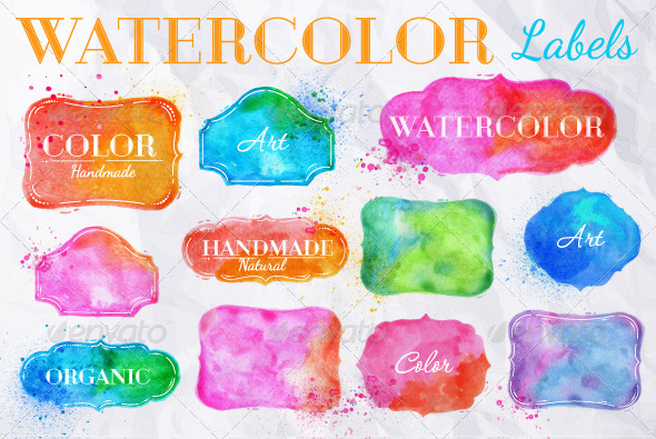 GraphicRiver Watercolor Design Elements 7743407