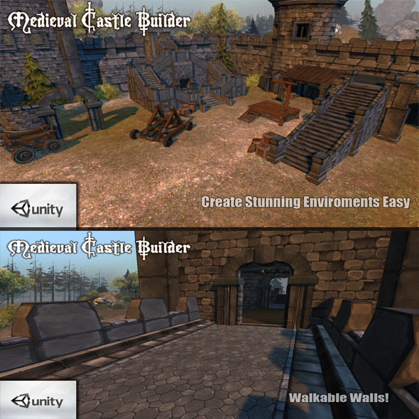 Medieval Castle Builder - 3DOcean Item for Sale