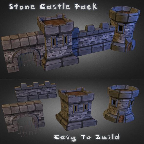 3DOcean Medieval Stone Castle Pack 7743869