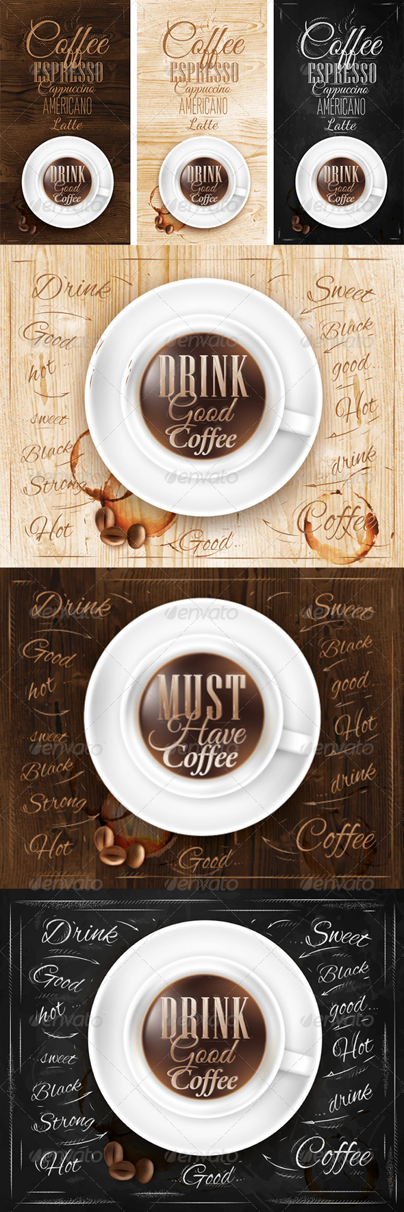 GraphicRiver Poster coffee in wood chalk 7743895