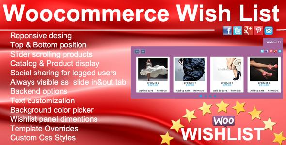 CodeCanyon Woocommerce Wishlist 7734901