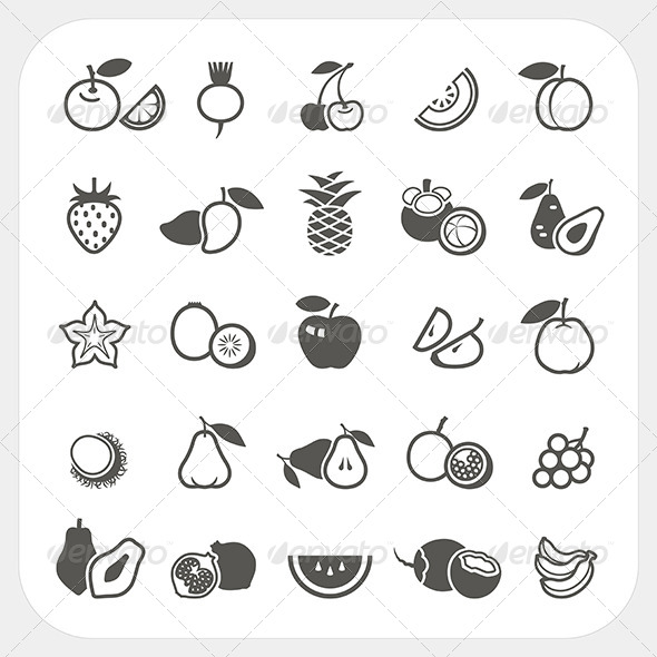 GraphicRiver Fruit Icons Set 7743966