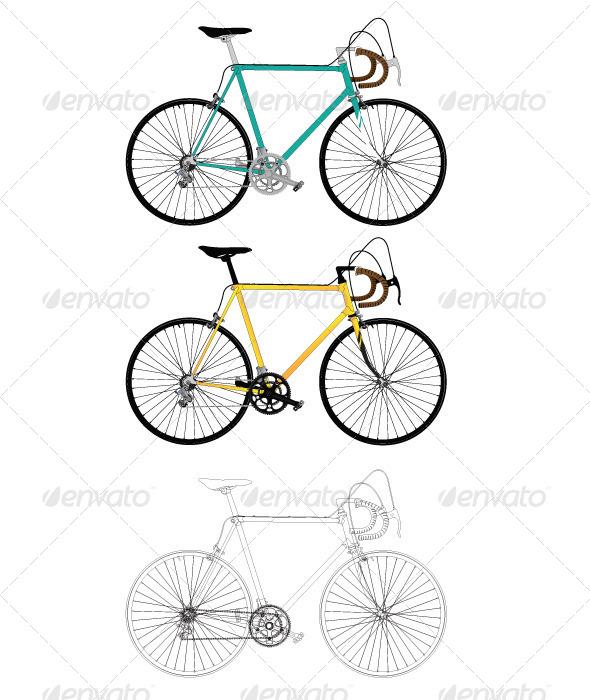 GraphicRiver Classic Road Bike 7673783