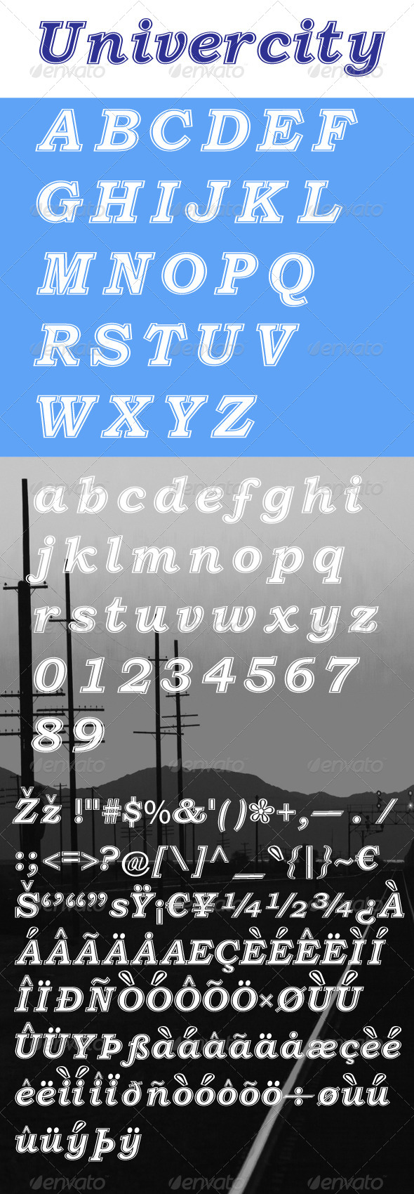 GraphicRiver Univercity Font 7744125