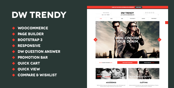 DW Trendy Responsive WooCommerce WordPress Theme