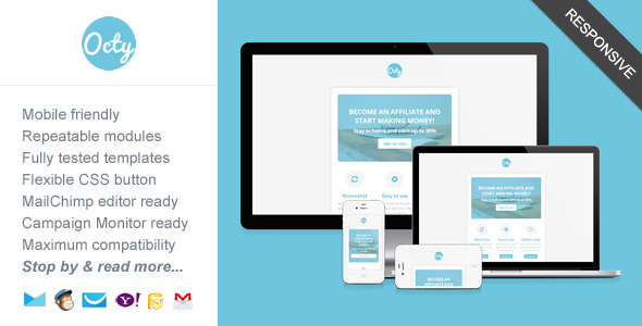 ThemeForest Octy Minimalist Business Newsletter Template 7744353