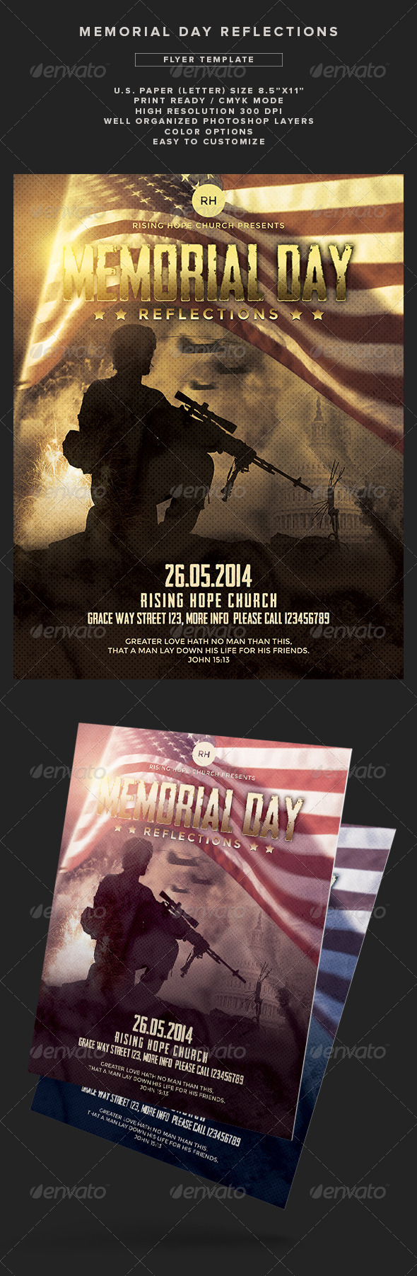 GraphicRiver Memorial Day Reflections Flyer Template 7744355