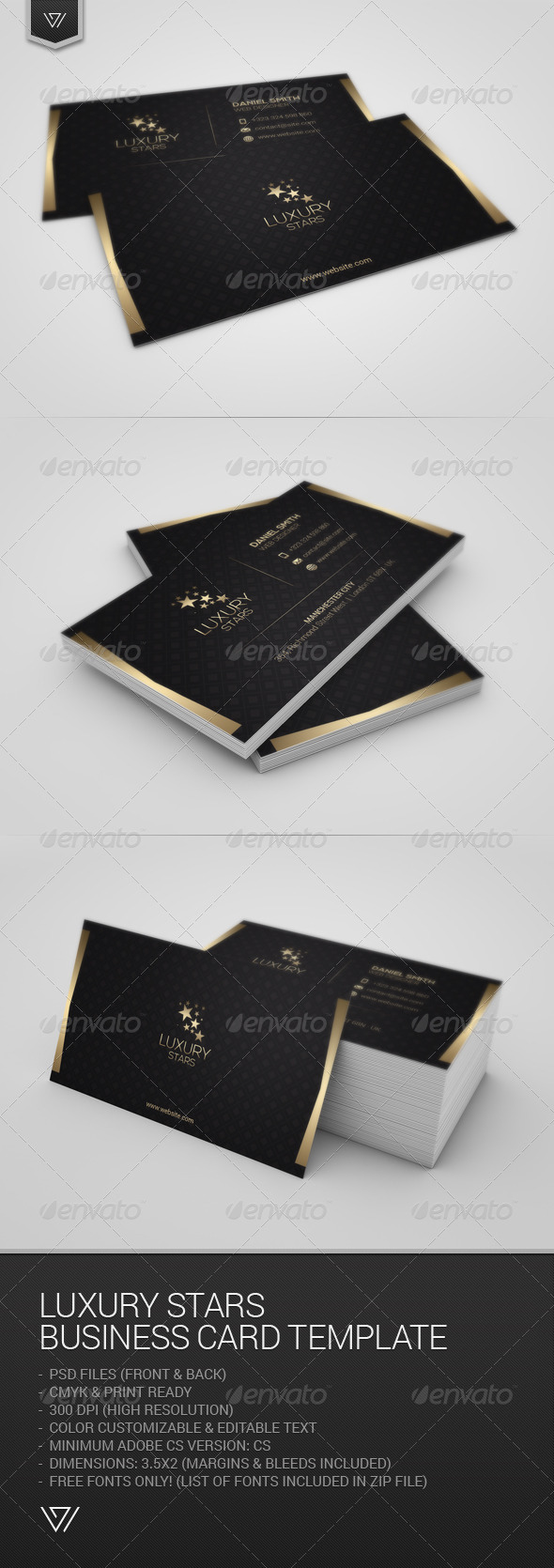 GraphicRiver Luxury Stars Business Card 7717084