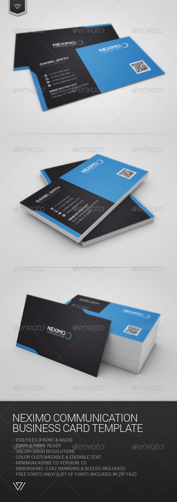 GraphicRiver Neximo Communication Business Card 7712776