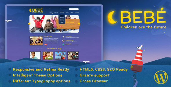 ThemeForest BeBe Responsive WordPress Theme 7681923